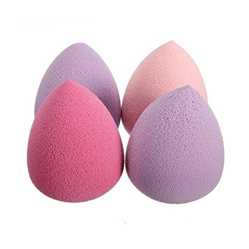ROPALIA 4 PCS Beauté Eponge Fond de Teint Douce A Maquillage en Forme de Goutte d'Eau Couleur Diverse.