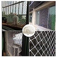 White Dust Screen Child Protection Net, Balcony Window Door Stair Railing Safety Net Cat Net Shatterproof Net Decoration Net, Hand-woven Mesh Multi-function Multi-size,white Nylon Woven Mesh