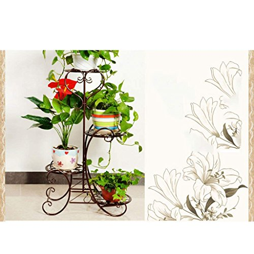 54d6f1db6bac CN Estantería de Flores de Hierro Creativo Multi-Store Flower Stand Estante  de Flores de