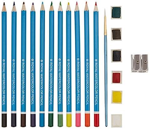 Royal Brush Clamshell Art Sets Watercolor Pencils 19-Piece