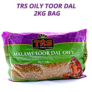TRS Oily Toor Dal | Yellow Split Pea | Earthy Taste | Source of Protein | Long Shelf Life | Perfect for Dhal | Great Source of Carbohydrate | Eat with Roti or Rice | 2 KG Bag