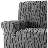 DECORACION NUEVO ESTILO- Funda de sofá AMBROZ en tejido elástico, tamaño Orejero color 11 Gris (varios colores y medidas)