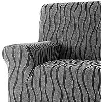 DECORACION NUEVO ESTILO- Funda de sofá AMBROZ en tejido elástico, tamaño 3 plazas 170 a 210 cms. color 11 Gris (varios colores y medidas)