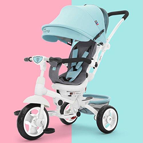 Tricycle pour enfants, bicyclette bicyclette bicyclette Chariot pour bébé Le siège peut être tourné à 360 degrés