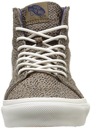 Vans U Sk8-hi Slim Zip Scotchgard, Unisex-Erwachsene Sneakers Braun (cheetah Suede/black/tan)