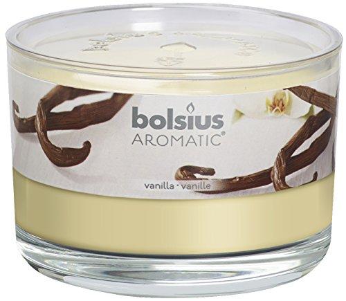 Bolsius 8717847086204 Duftglas, wachs, vanille, 6,3 x 9 cm Vanille Kerze
