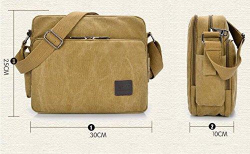 MYLL Retro Della Tela Di Canapa Unisex Shoulder Bag Messenger Khaki