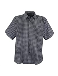 Lavecchia - Chemise à carreaux - manches courtes - pour homme - grande taille