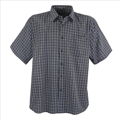 Lavecchia - Chemise à carreaux - manches courtes - pour homme - grande taille Blanc