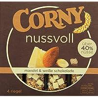 CORNY nussvoll Mandel & weiße Schokolade, Nussriegel mit über 40% Nüssen, 96g Schachtel mit 4 Riegeln