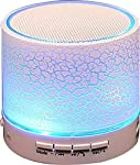 LED Bluetooth Mini Speakers with,FM Radio, Deep Bass Audio and SD Card Support