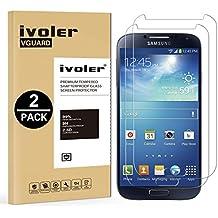 [2 Pack] Samsung Galaxy S4 Protector de Pantalla, iVoler [0.3mm Dureza 9H] Protector de Pantalla de Vidrio Templado Cristal Protector para Samsung Galaxy S4 -Dureza de Grado 9H, Espesor 0,30 mm, 2.5D Round Edge-[Ultra-trasparente] [Anti-golpe] [Ajuste Perfecto] [No hay Burbujas]- Garantía Incondicional de 18 Meses