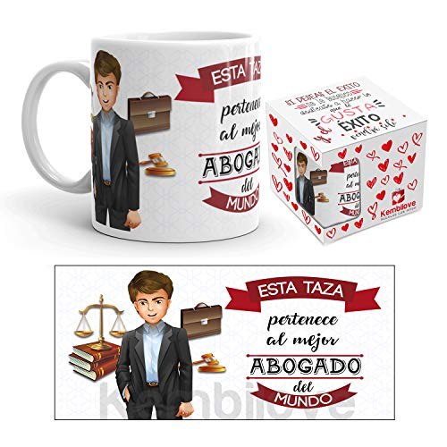 Kembilove Taza de Café del Mejor Abogado del Mundo - Taza de Desayuno para la Oficina - Taza de...