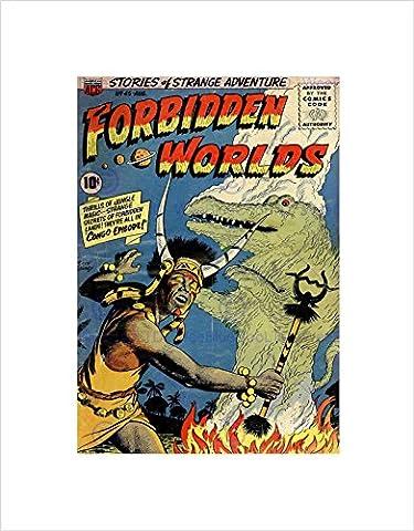 SUPER HERO COVER ACG BOOK FORBIDDEN WORLDS 45 VINTAGE COMIC FRAMED PRINT B12X417