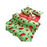 Stillshine Frucht-Serie Bettwäsche Bettbezüge Bettwäschegarnituren Bettwäscheset Microfaser Modernes Elegantes 4 Stück Bettwäsche Set (220X240CM, Wassermelone)