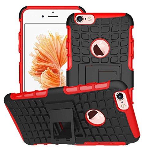 """iPhone 6 Plus Coque AOFad Béquille Vidéo Protection des lourds orange noir Plastique TPU Hybride Antiskid 2 à 1 Série Pour Femme Homme Accessoires Case 5.5"""" Q036 AOFad Style 100"""