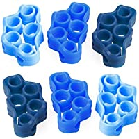 Dabixx 6 Piezas/Lote Pro Circle Hand Resistance Band Yoga Ejercitadores Finger Stretcher