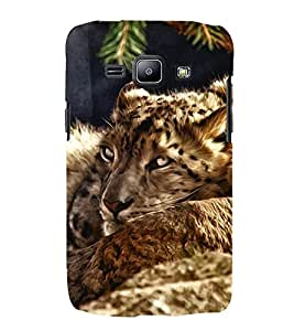 FUSON Sleeping Tiger Oil Painting 3D Hard Polycarbonate Designer Back Case Cover for Samsung Galaxy J2 (6) 2016 J210F :: Samsung Galaxy J2 Pro (2016)