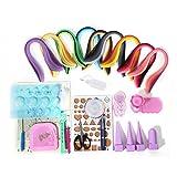Yurroad Kit d'outils et de bandes de papier pour création de paperolles, 18sortes d'outils et 900 bandes de papier tout-en-un