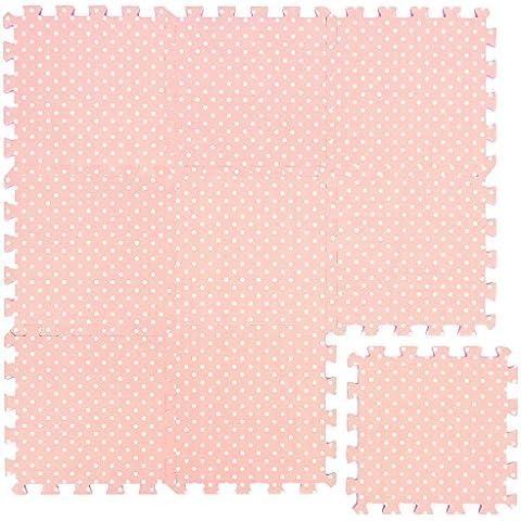 Alfombra Puzle para Niños   en Espuma EVA   Alfombra Desmontable Infantil para Jugar   Color Rosa con