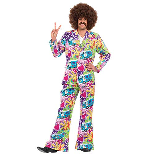 Fun Shack Herren Costume Kostüm Mens Campervan Suit, ()