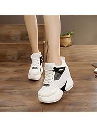 GTVERNH Zapatos de mujer/Verano/en primavera 12 cm tacón alto zapatos de deporte mujer zapatos invisibles zapatos...