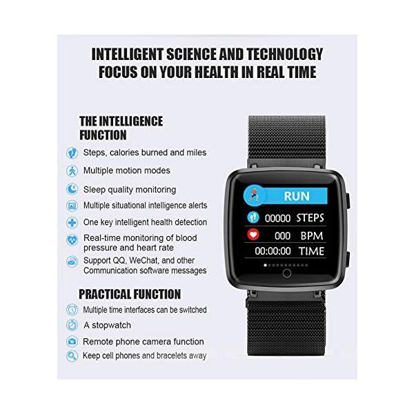 Reloj SAMA Fitness Trackers,Monitor de Frecuencia Cardíaca IP67,Rastreador de Actividad a Prueba de Agua,Reloj de Calorías Para Podómetro Con Pantalla a Color y Monitor de Sueño,Pulsera Inteligent 5