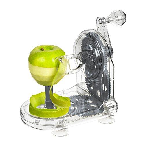 Lurch Apfelschäler, Kunststoff, Iron Grau/Weiß 12 x 19 x 17 cm