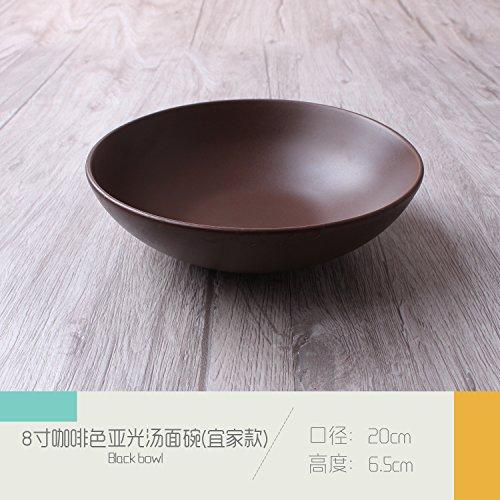 Tlue Tathtub Vasellame _ semplici sotto la superficie ceramica da tavola Western-Style Piatti Ristorante Pasta piastra tavolo tazza da caffè,Matt 8 pollice ciotola (Ikea),5 Pz.