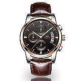 Men's Watch, Stylish Casual Watch Multi-Function Quartz Watch Waterproof Watch with Luminous Chronograph