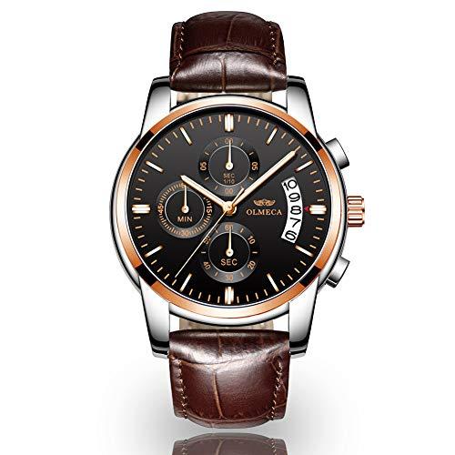 Orologio da uomo, orologio casual elegante multifunzionale di quarzo impermeabile con cronografo...