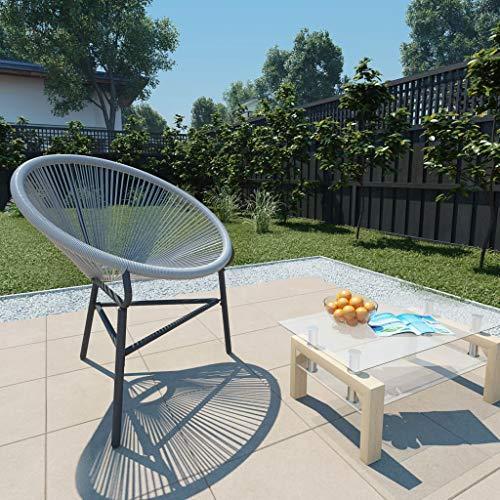 Festnight- Chaises de Jardin en résine tressée Chaise d Exterieur Chaise pour terrasse Fauteuil Gris 69 x 66 x 87 cm