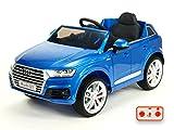 mit Türen Kinderauto Kinderelektroauto Kinderelektrofahrzeug Kinder elektroauto 12V Orginal Luxus AUDI Q7 lackiert blau metallic R/C