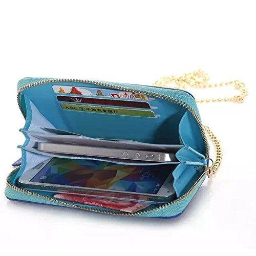 iPhone Case Cover Étui pour iPhone 6 Plus, Mix et correspond à une housse de couleur avec support de carte pour iPhone 6 Plus 6S Plus ( Color : Brown , Size : IPHONE 6S PLUS ) Blue