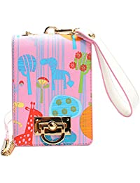 LABANCA Womens Mini Shoulder Bag Cute Cartoon Printing Crossbody Bag Wristlet Purse Bag Pink
