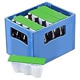 """4er Set Getränkekühler """"Ice2go"""" Bierkastenkühler Kühlung für Flaschen 0,5l - Einmalige Befüllung und Immerwieder Verwendbar (Grün)"""