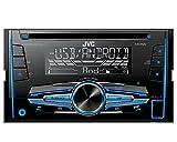 Auto Radio CD Receiver JVC mit USB CD AUX UVM für Opel Meriva (X01) 2003-2010 incl Einbauset metallic