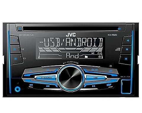Auto Radio CD Receiver JVC mit USB CD AUX uvm für Audi A3 + Sportback (8P/8PA) 2003-2006 ohne Bose incl Einbauset schwarz