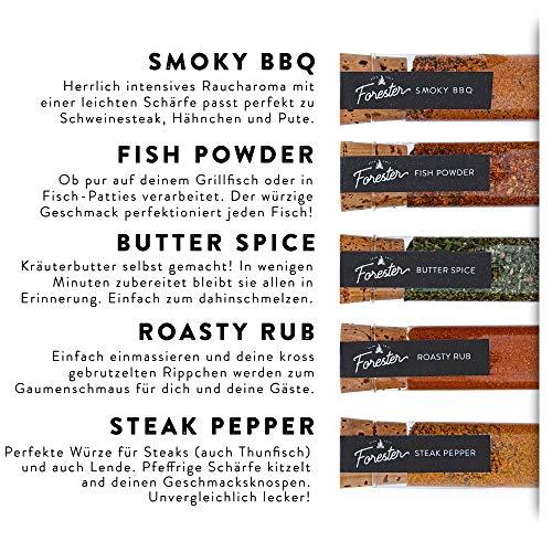 51SpDrSV4RL - BBQ Grill Gewürze Geschenkset Männer I 5 erlesene Grillgewürze inkl. Rezepte, perfektes Grill Geschenk für Männer, Grill Geschenke für Männer