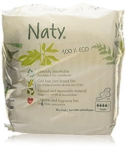 Naty Bio Sanitary Towels Super, 13 Towels