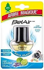 Idea Regalo - Arbre Magique Belair Giugiaro Easy, Deodorante Auto, Fragranza Aqua Splash, Ricarica per Emanatore, Effetto Lunga Durata, Design Made in Italy