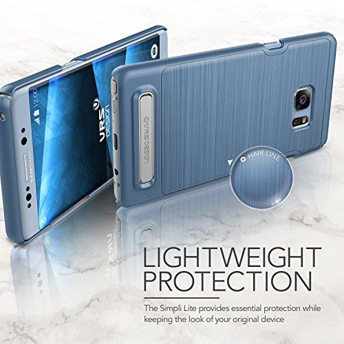 Galaxy Note 7custodia, VRS design [Simpli Lite] [corallo blu]–[Low Profile] [Slim Fit] [cavalletto] per Samsung Note 7