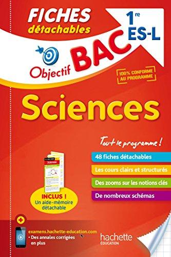 Objectif Bac Fiches Détachables Sciences 1ère Es/L