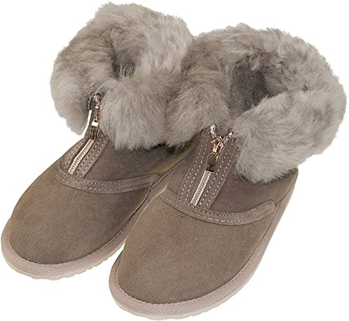 Dicke Schuhe Extra Grau Reißverschluss Lammfell Halbhohe 7wgwqZxH4