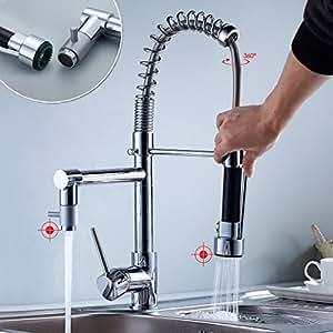 auralum moderne 360 robinet lavabo haut chrom mitigeur vier monocommande pour salle de bain. Black Bedroom Furniture Sets. Home Design Ideas