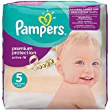 Pampers Premium Protection Active Fit Nappies Monthly Saving Pack - Size 5, Pack of 136
