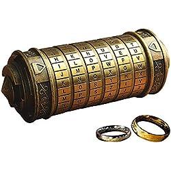 Retro Da Vinci 3D Cryptex Code Lock Cajas de Regalo Exquisitas Para el Aniversario de San Valentín Con El Señor de Los Anillos
