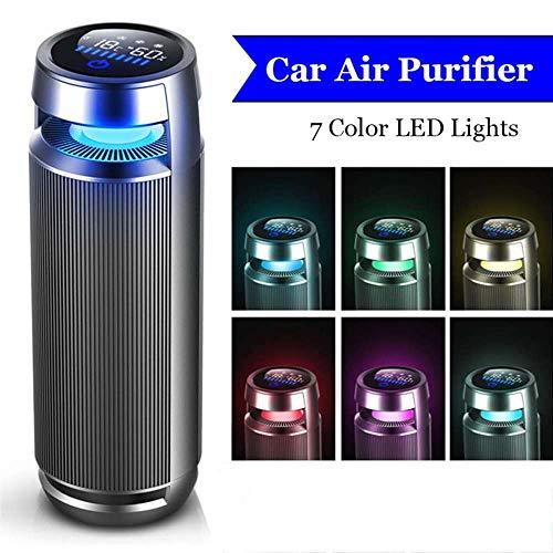 PANQQ USB Auto Luftreiniger Negative Ionen Luftreiniger für PM2.5 Formaldehyd Rauchgeruch Allergien LED Licht Schnelle Frash Air