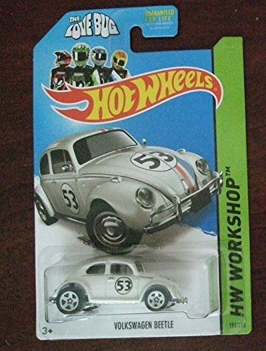 2014 Hot Wheels Hw Workshop 191/250 - Herbie The Love Bug Volkswagen Beetle - [Ships in a Box!] by Mattel