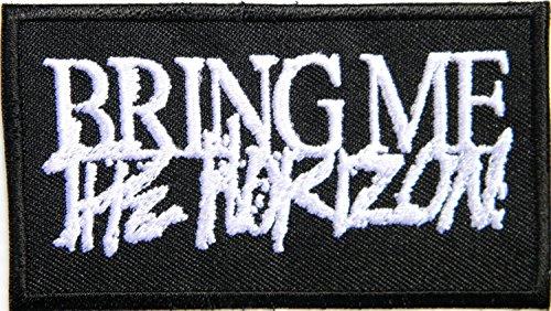 BRING ME THE HORIZON Logo Heavy Meatal Punk Rock Band Music Band Jungen Cap Kids Mädchen-Aufnäher, zum Aufbügeln, bestickt -